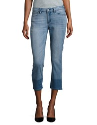 Buffalo David Bitton Curvy Fit Cropped Jeans Blue