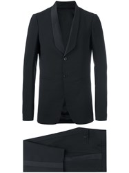 Rick Owens Tusk Tux And Astaire Cropped Trousers Suit Black