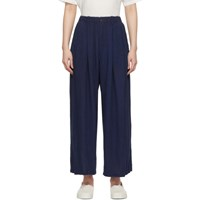 Blue Blue Japan Navy Hand Dyed Wide Relax Trousers
