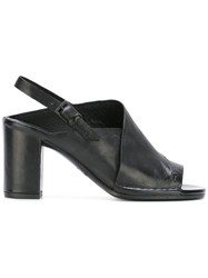 Roberto Del Carlo Sling Back Sandals Black