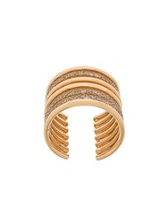Elise Dray Embellished Stack Ring Metallic