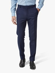 Richard James Mayfair Speckled Wool Tailored Suit Trousers Blue