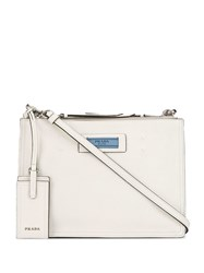 Prada Square Shoulder Bag White