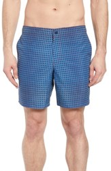 Zachary Prell Arroyo Circle Print Swim Trunks Blue