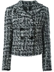 Dolce And Gabbana Tweed Jacket Black