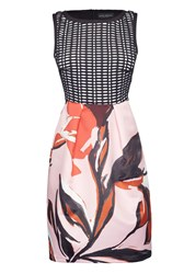 James Lakeland Abstract Print Dress Pink