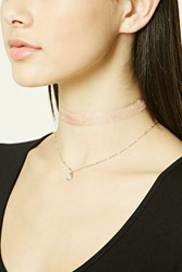 Forever 21 Layered Choker Set Gold Peach