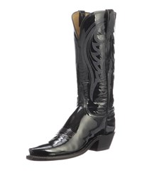 Lucchese Dee Shiny Western Knee Boots Black