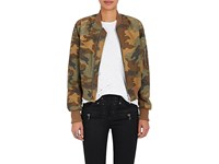 Amiri Women's Camouflage Cotton Insulated Bomber Jacket Green