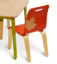 Iglooplay Craft Work Chair Green Natural Red