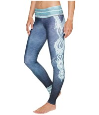 Onzie Graphic Leggings Elephant Henna Women's Workout Blue