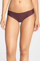 Women's Halogen 'No Show' Thong Burgundy Stem