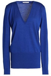 Antonio Berardi Merino Wool And Silk Blend Sweater Cobalt Blue