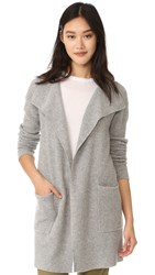 James Perse Thermal Stitch Cashmere Cardigan Heather Grey