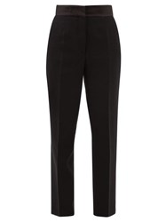 Etro Torbay High Rise Wool Tapered Trousers Black