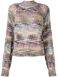 Missoni Fine Knit Turtleneck Sweater Nude And Neutrals