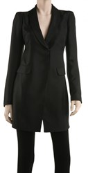 Leon Max Silk And Cotton Broadcloth Structured Coat