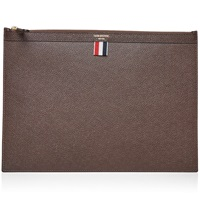 Thom Browne Large Document Holder Brown Pebble Grain