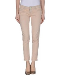 Twin Set Simona Barbieri Denim Pants Skin Color