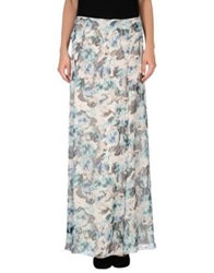 Philosophy Di Alberta Ferretti Long Skirts Deep Jade