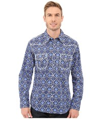 Rock And Roll Cowboy Long Sleeve Snap B2s7262 Blue Men's Long Sleeve Button Up
