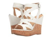 Guess Hannele White Snake Women's Wedge Shoes