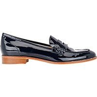 Barneys New York Women's Penny Loafers Navy