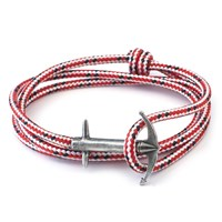 Anchor And Crew Red Dash Admiral Rope Bracelet