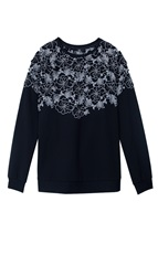 Tibi Blossom Cut Out Long Sleeve Top