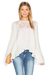 For Love And Lemons Ellery Top White