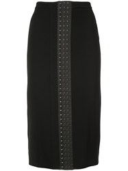 Thierry Mugler Over The Knee Skirt Black