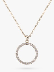 Ted Baker Linzzi Swarovski Crystal Luunar Pave Circle Pendant Necklace Gold