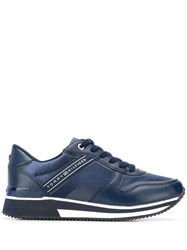 Tommy Hilfiger Leather Lace Up Sneakers Blue
