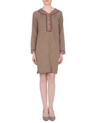 Local Apparel Dresses Short Dresses Women Khaki
