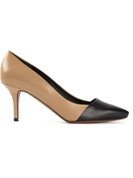Proenza Schouler Two Tone Pumps Brown