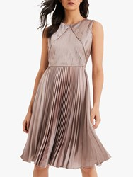 Damsel In A Dress Zoey Pleated Textured Champagne