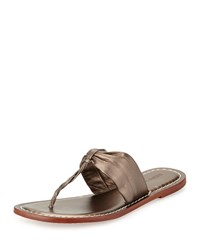 Bernardo Marie Leather Thong Sandal Pewter