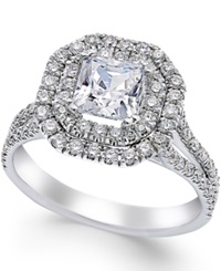 Macy's Certified Diamond Halo Engagement Ring In 18K White Gold 1 3 4 Ct. T.W.