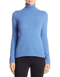 Lord And Taylor Petite Cashmere Turtleneck Sweater Azure Blue