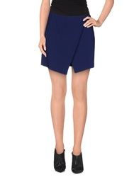 Tara Jarmon Mini Skirts Dark Blue