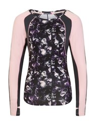 Elle Sport Sleek Long Sleeved Performance Top Multi Coloured Multi Coloured