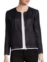 The Kooples Faux Leather Moto Jacket Black