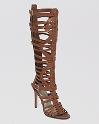Vince Camuto Gladiator Sandals Kase High Heel Dark Walnut
