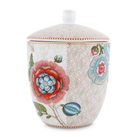 Pip Studio Spring To Life Storage Jar Cream