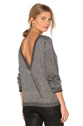 Equipment Calais V Back Sweater Metallic Silver