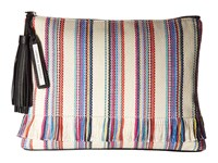 Loeffler Randall Tassel Pouch Multi Stripe Black Clutch Handbags