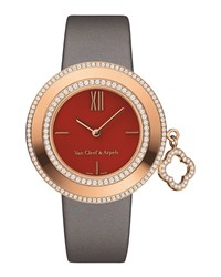 Charms Pink Gold Watch 32Mm Van Cleef And Arpels Red