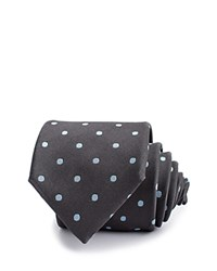Thomas Pink Barton Spot Woven Classic Tie Charcoal Blue