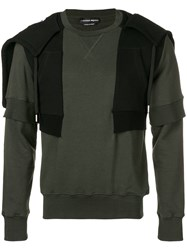 Alexander Mcqueen Layered Sweatshirt Green