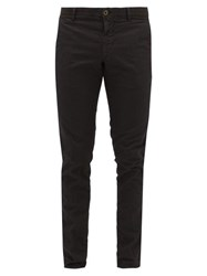 Incotex Ripstop Effect Cotton Blend Trousers Black